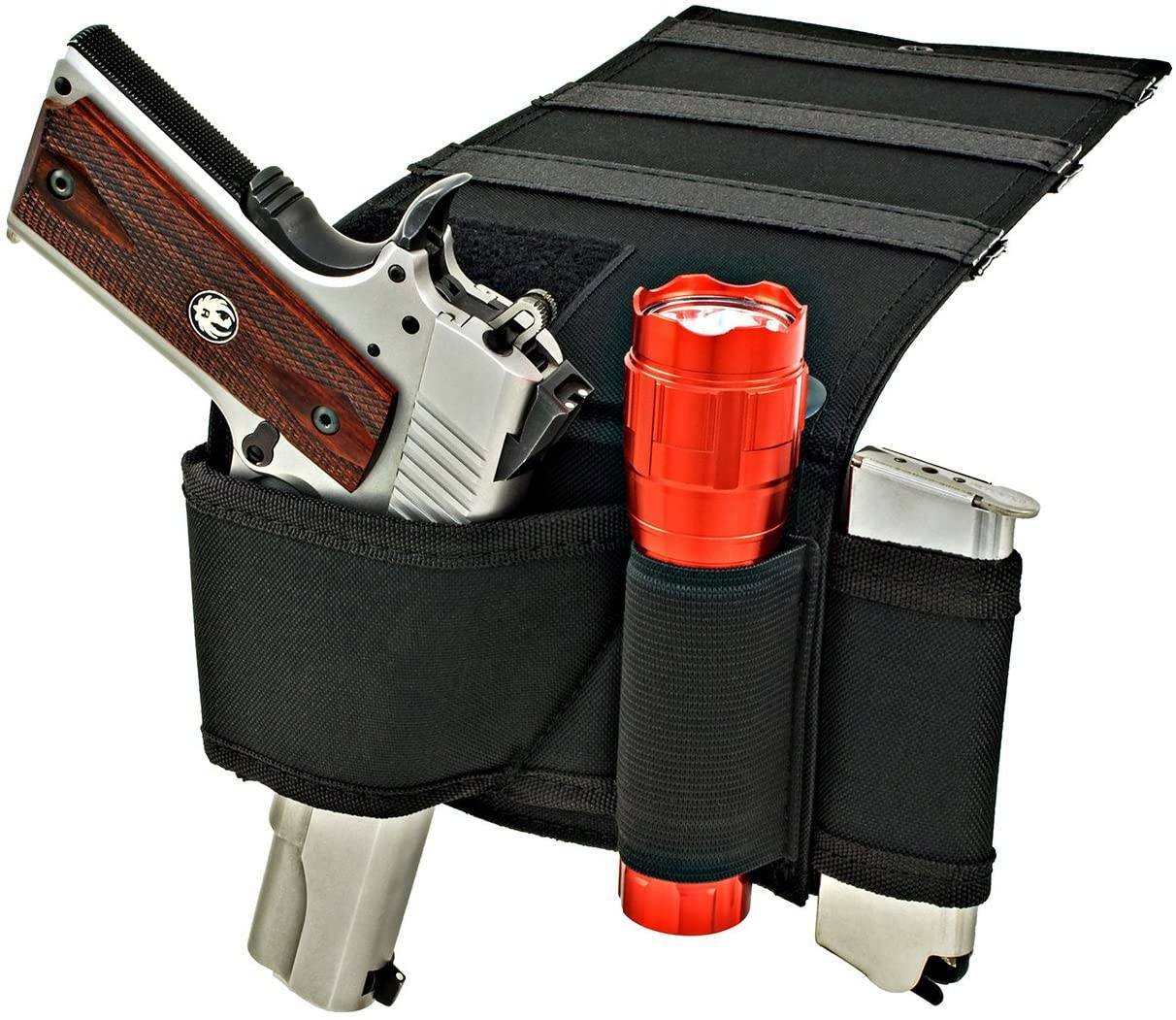 bedside holster, under bed gun holster, mattress gun holster