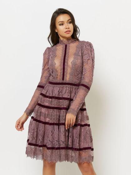 Платье цвет лиловый PEARL