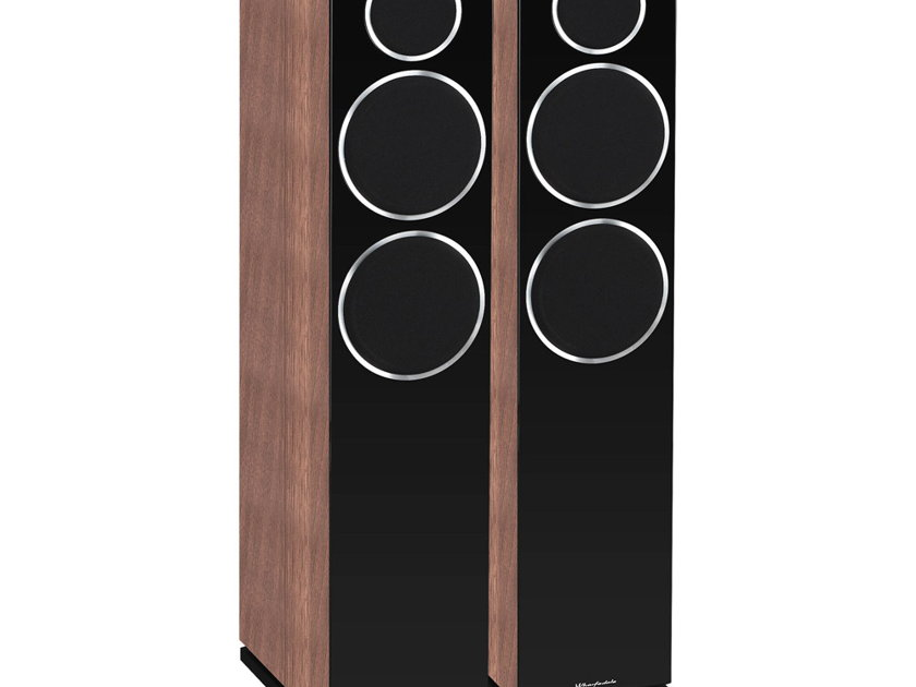 WHARFEDALE Diamond 230 2.5-Way Floorstanding Loudspeakers: Mint Condition Demo Unit; Full Manufacturer's Warranty; Walnut Pearl; 33% Off