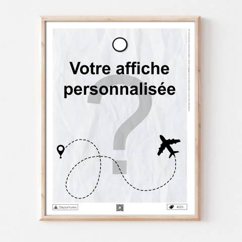 Affiche voyage personnalisée