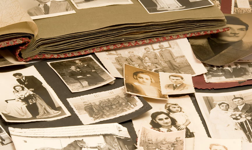 Image of old family photographs