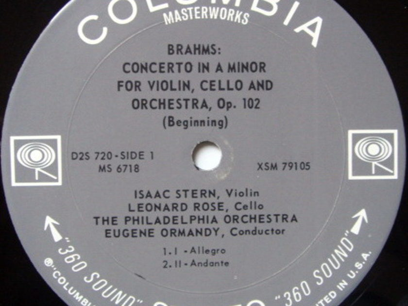 Columbia 2-EYE / STERN-ROSE-ISTOMIN, - Beethoven Triple, Brahms Double Concertos, MINT, 2LP Box Set!