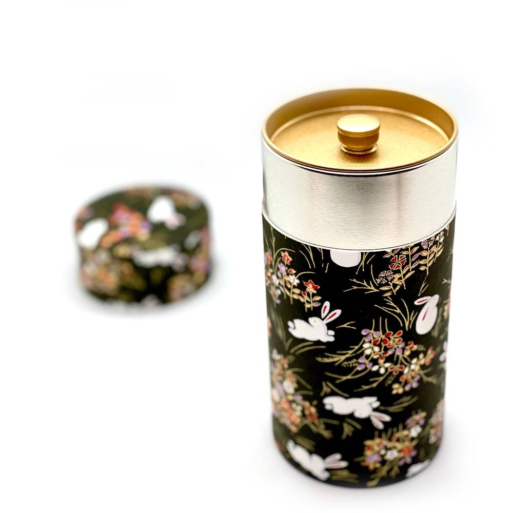 Washi tea canister handmade japan