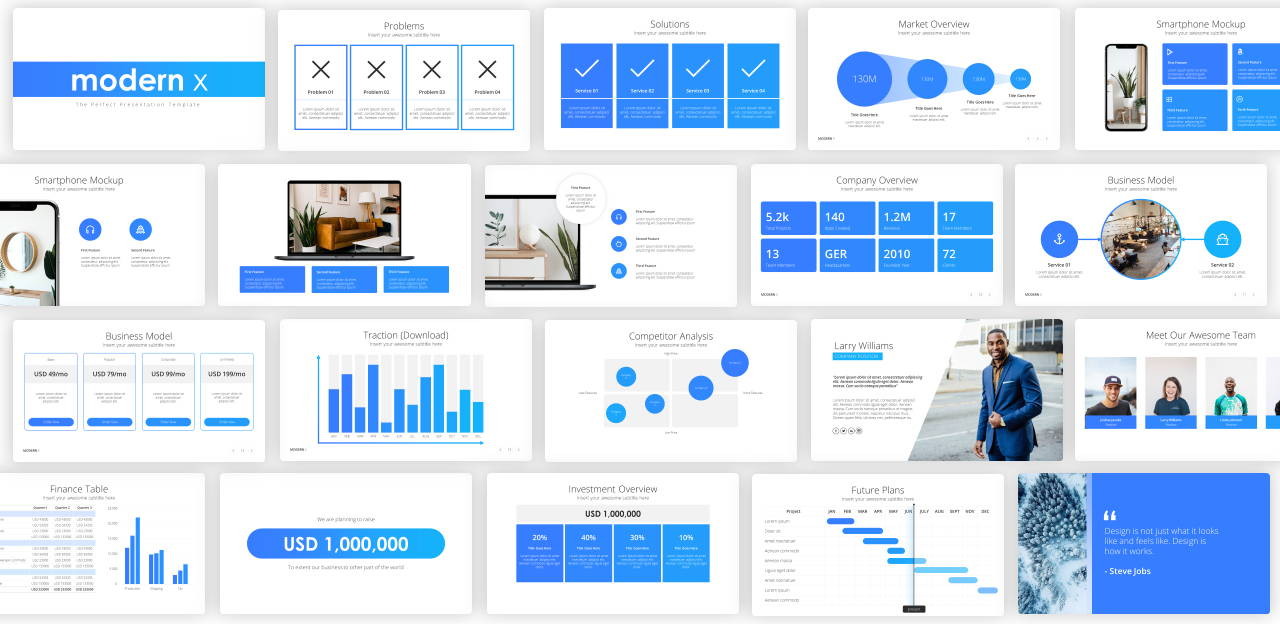 pitch deck powerpoint presentation template, startup presentation template