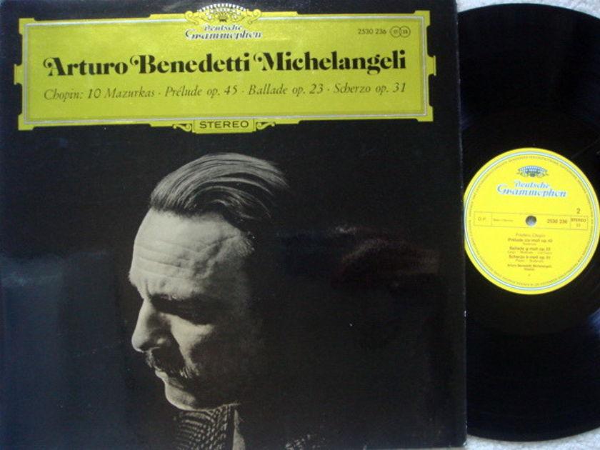 DG / Chopin Ten Mazurkas/Prelude/Ballade/Scherzo, - MICHELANGELI, MINT!