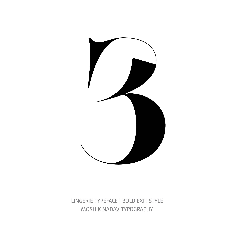 Lingerie Typeface Bold Exit 3