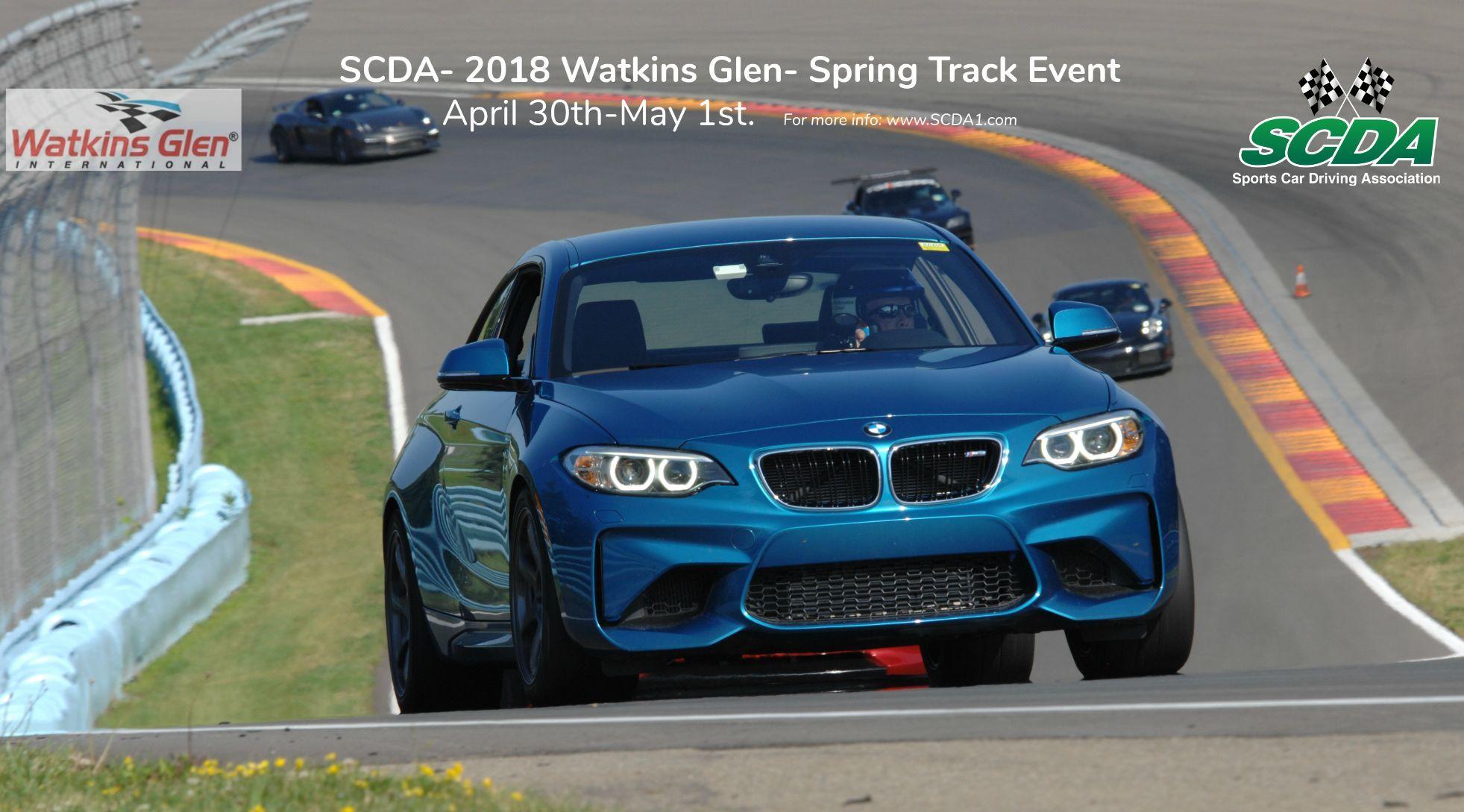 SCDA Watkins Glen Day Track Event Info On Apr - Sport car driving