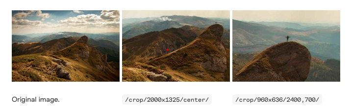 Auto image cropping and resizing example