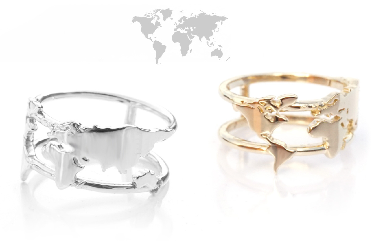 World map ring adventure at your fingertips of the free so youve found the heart and soul to of the free our iconic world map ring w e believe travel expands your horizons your view of the world gumiabroncs Gallery