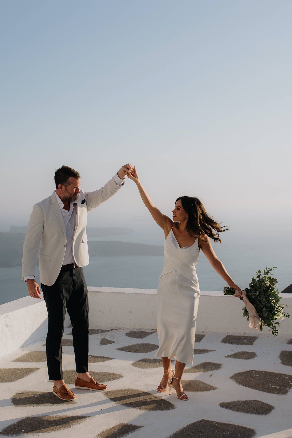 Wedding Photography on rooftop in Greece