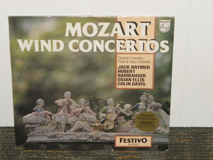 Jack Brymer/Davis/London Symphony Orchestra - Mozart Wind Concertos Philips Import Pressing 6570 146 Holland Pressing