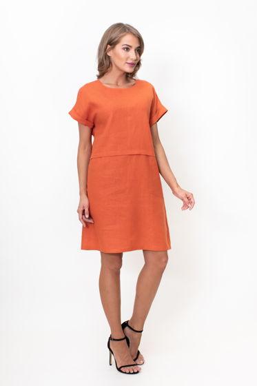 0e1ba0028ad Льняное платье Boho (сухая роза) в магазине «MARUSЯ» на Ламбада-маркете