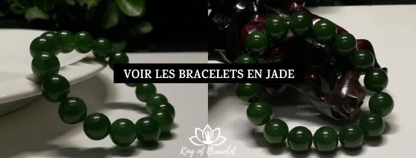 Bracelet en Jade Blanc
