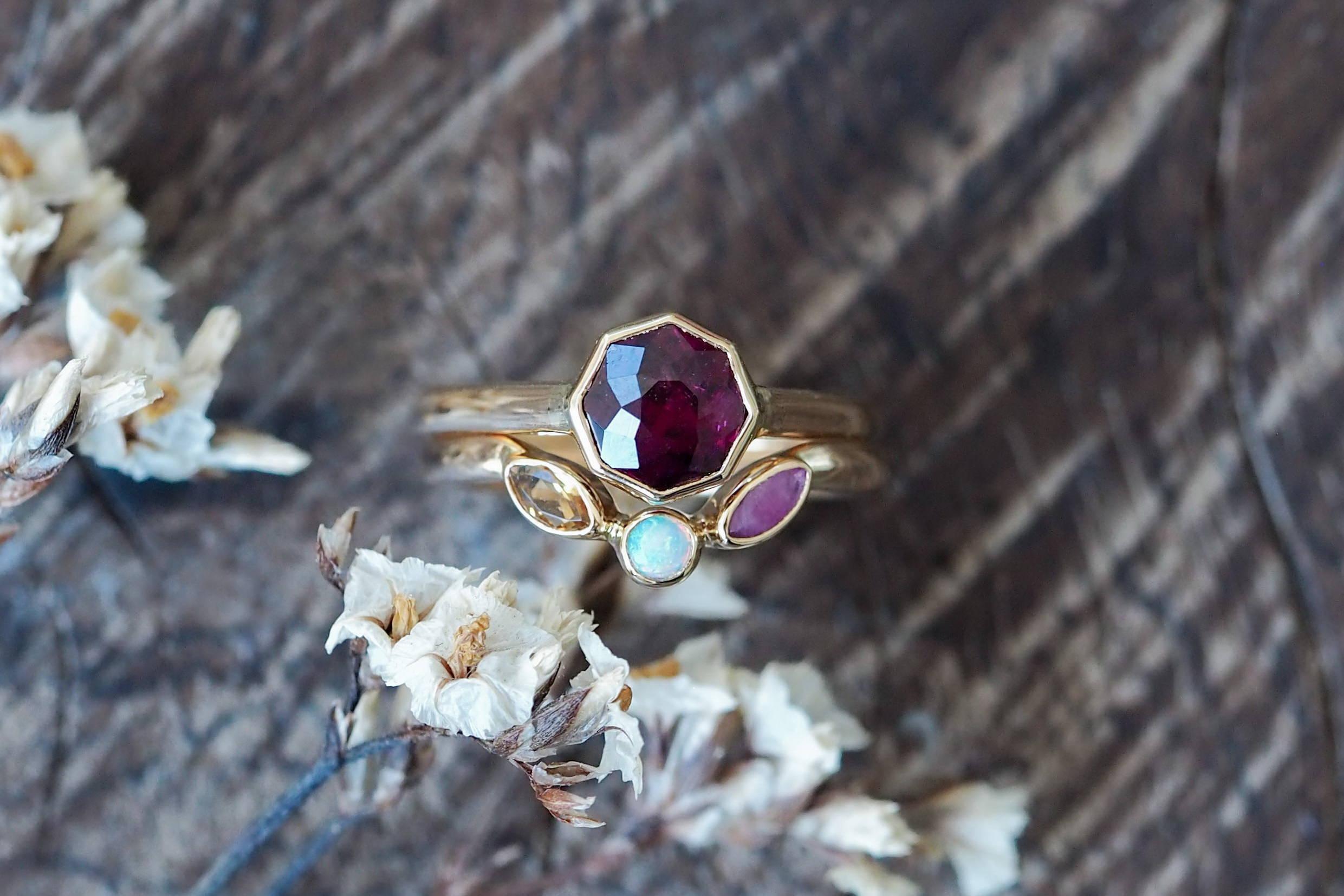 Custom ethical birthstone ring