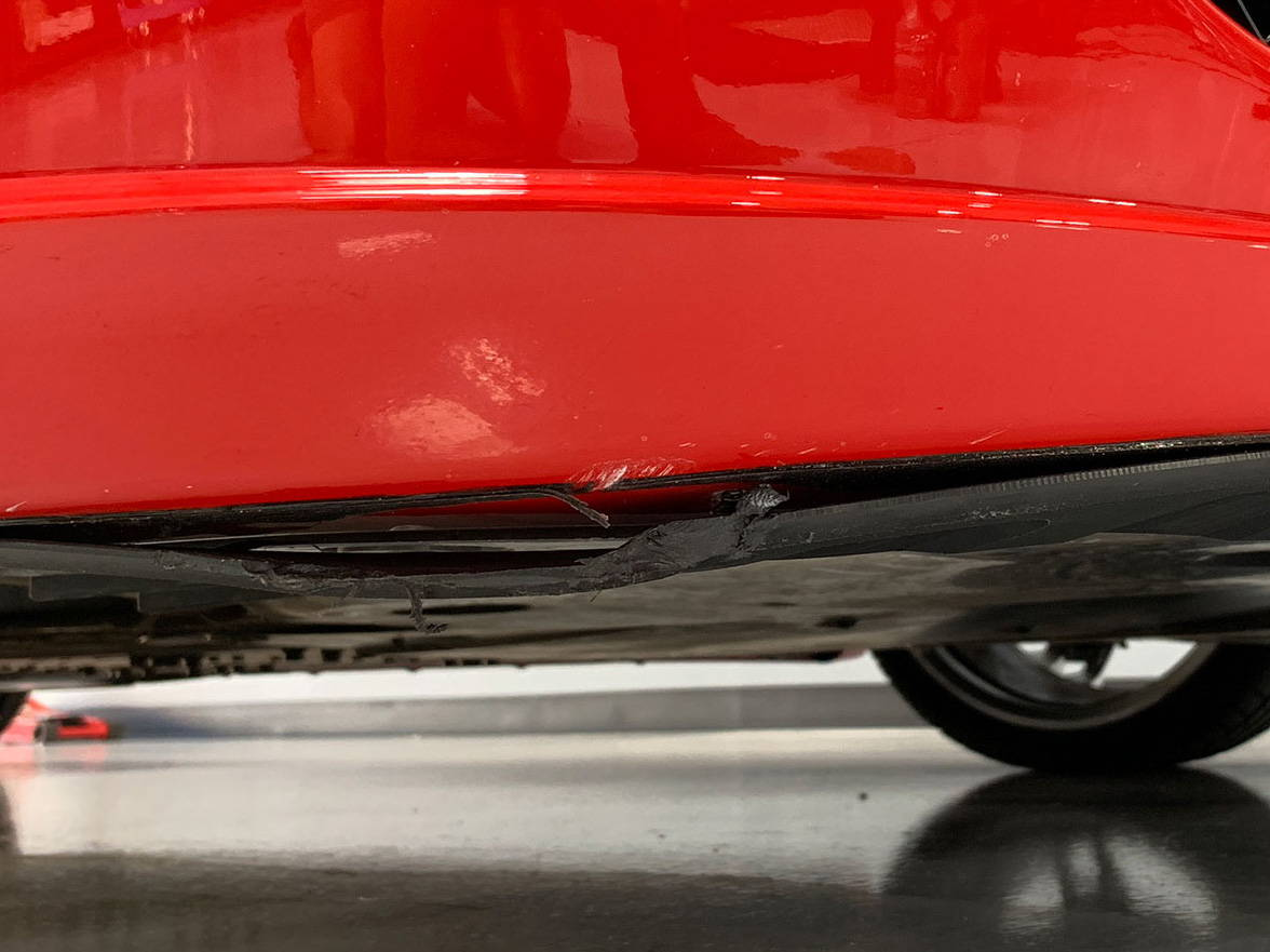 Ferrari F430 Spider Bumper Damage