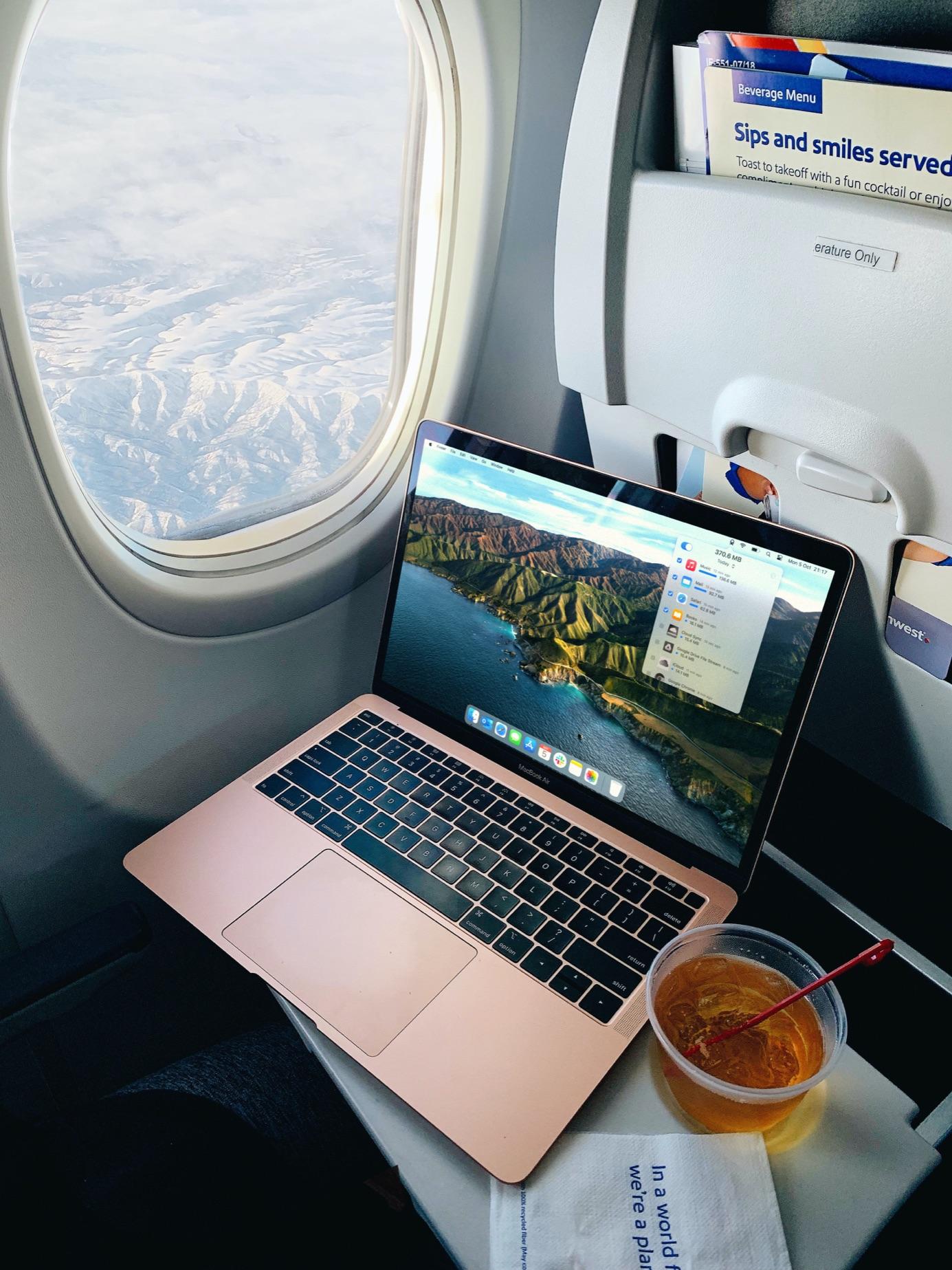 Using TripMode on during flights