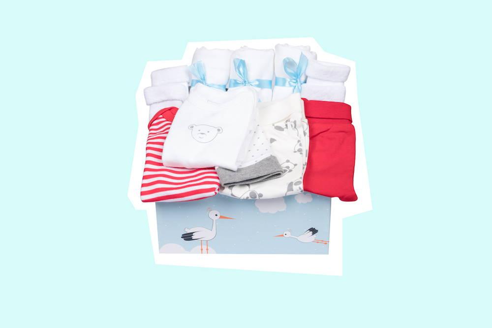 Baby Box Geschenk zur Geburt neutral von Taidasbox