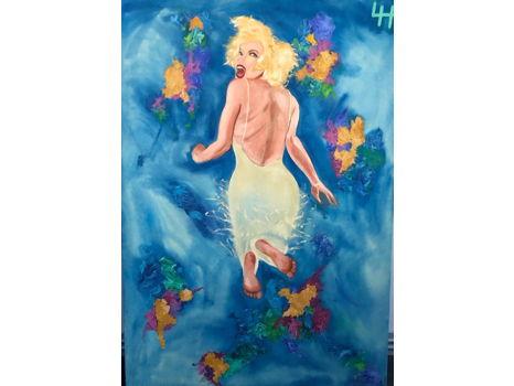 410 Marilyn Monroe Mixed Media Painting