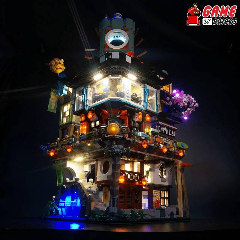 lego night light NINJAGO CITY 70620