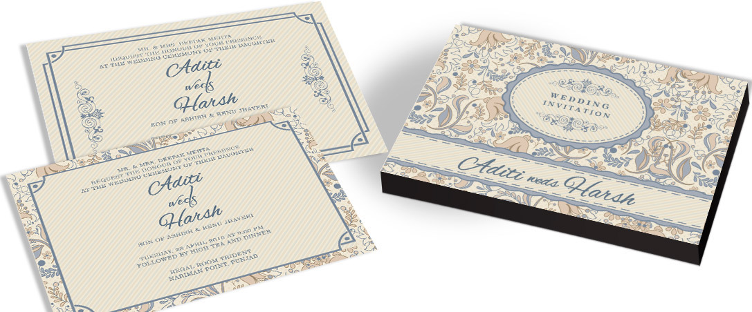 Classic Invitation card for Indian Wedding