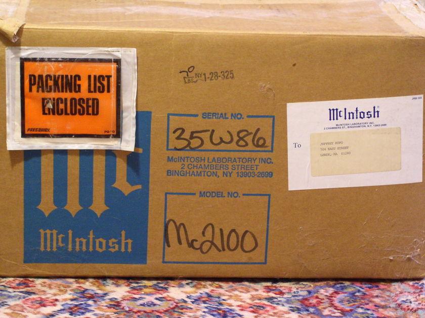 McIntosh Amplifier MC-2100 Nice with OB