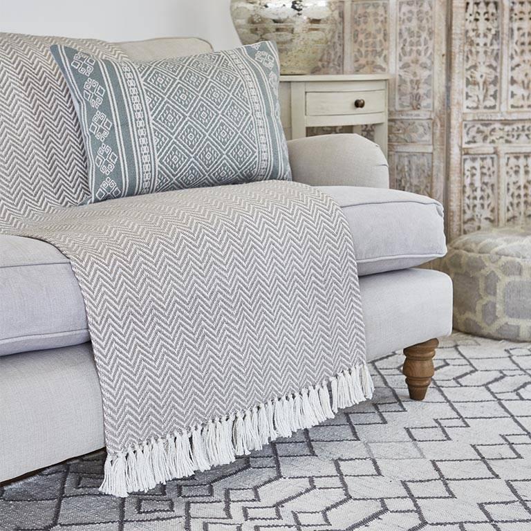 Chinchilla Herringbone Blanket