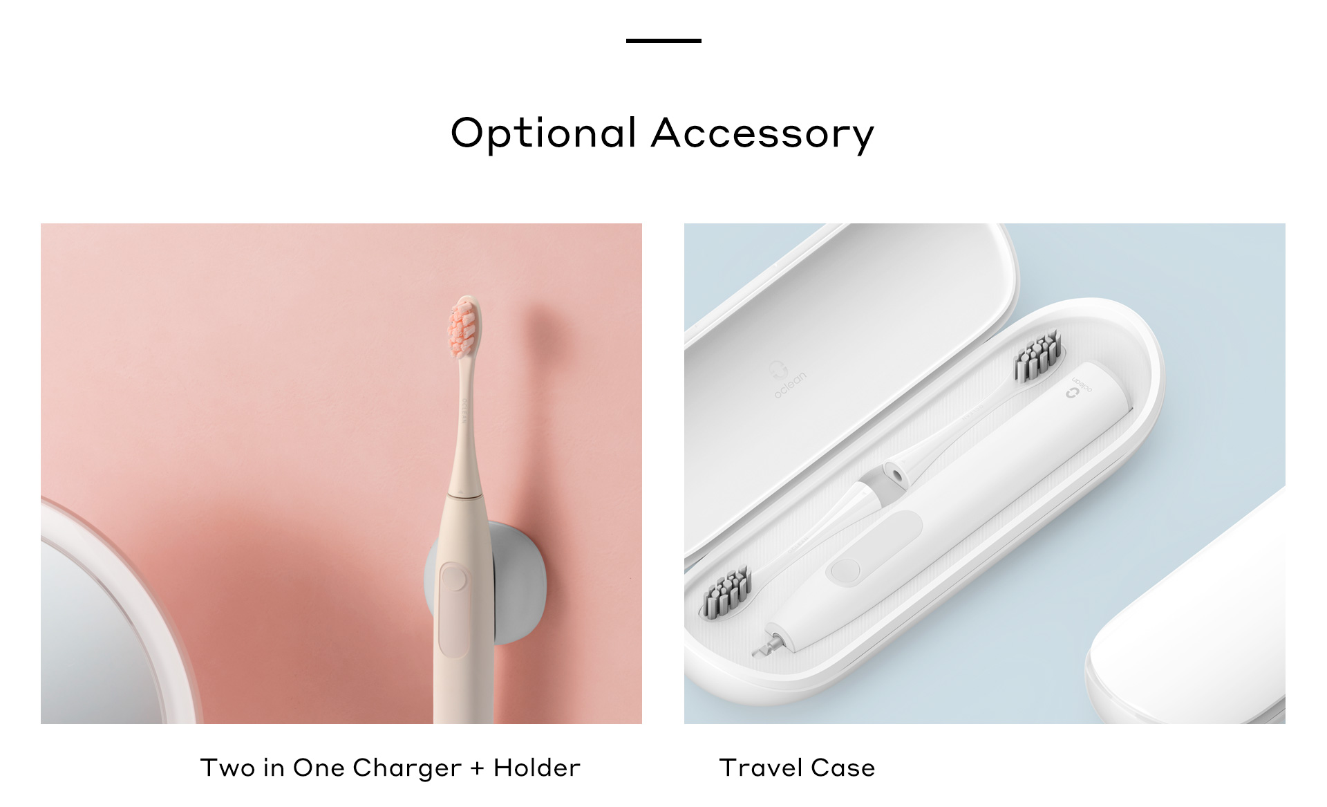 oclean F1 accessory charger +Holder travel case