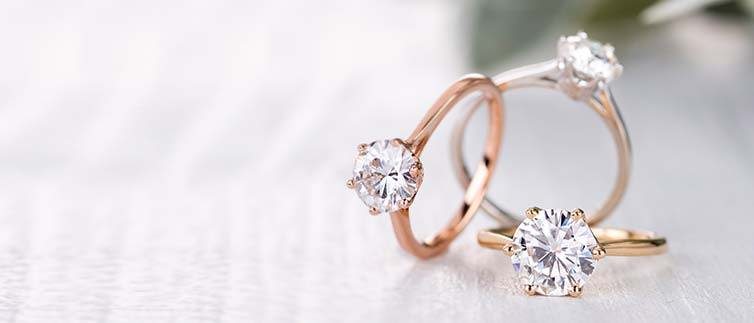 non diamond engagement rings closest to a diamond