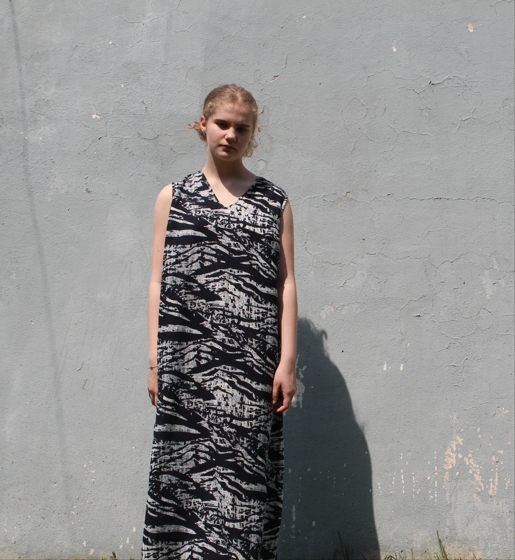 Платье из хлопка с рисунком