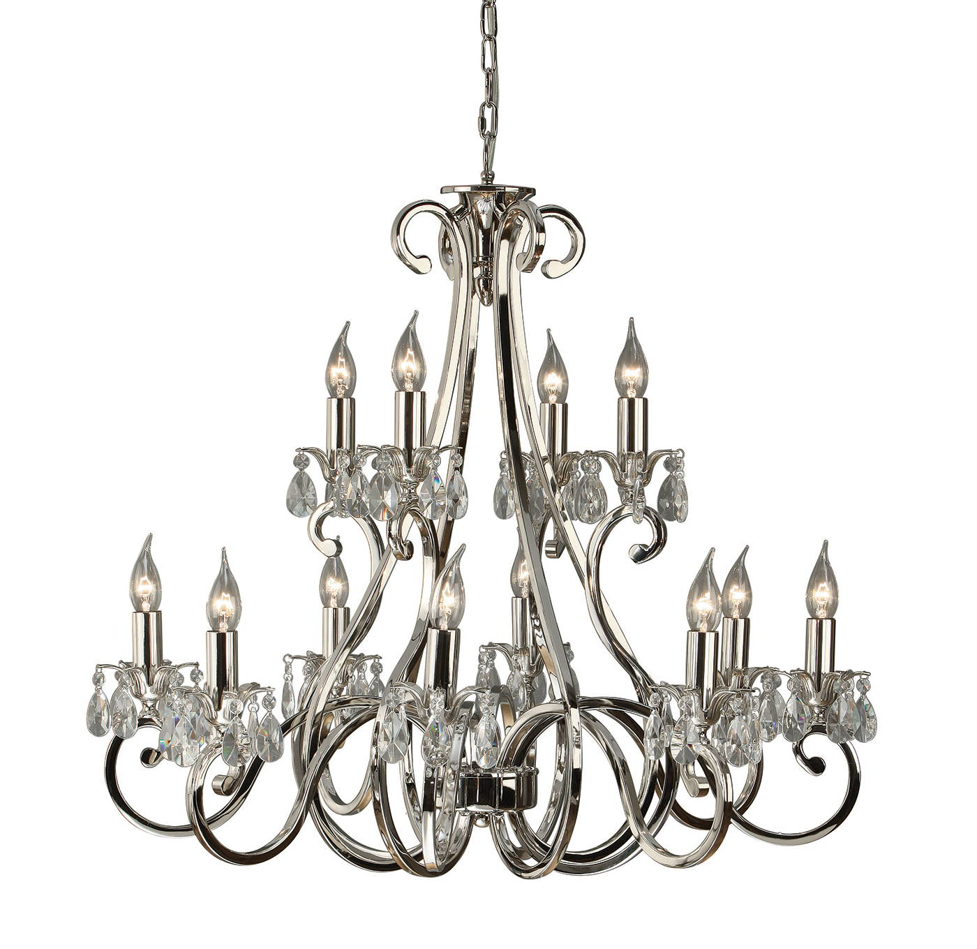 oksana nickel chandeliers