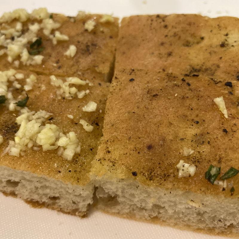 Organic focaccia bread