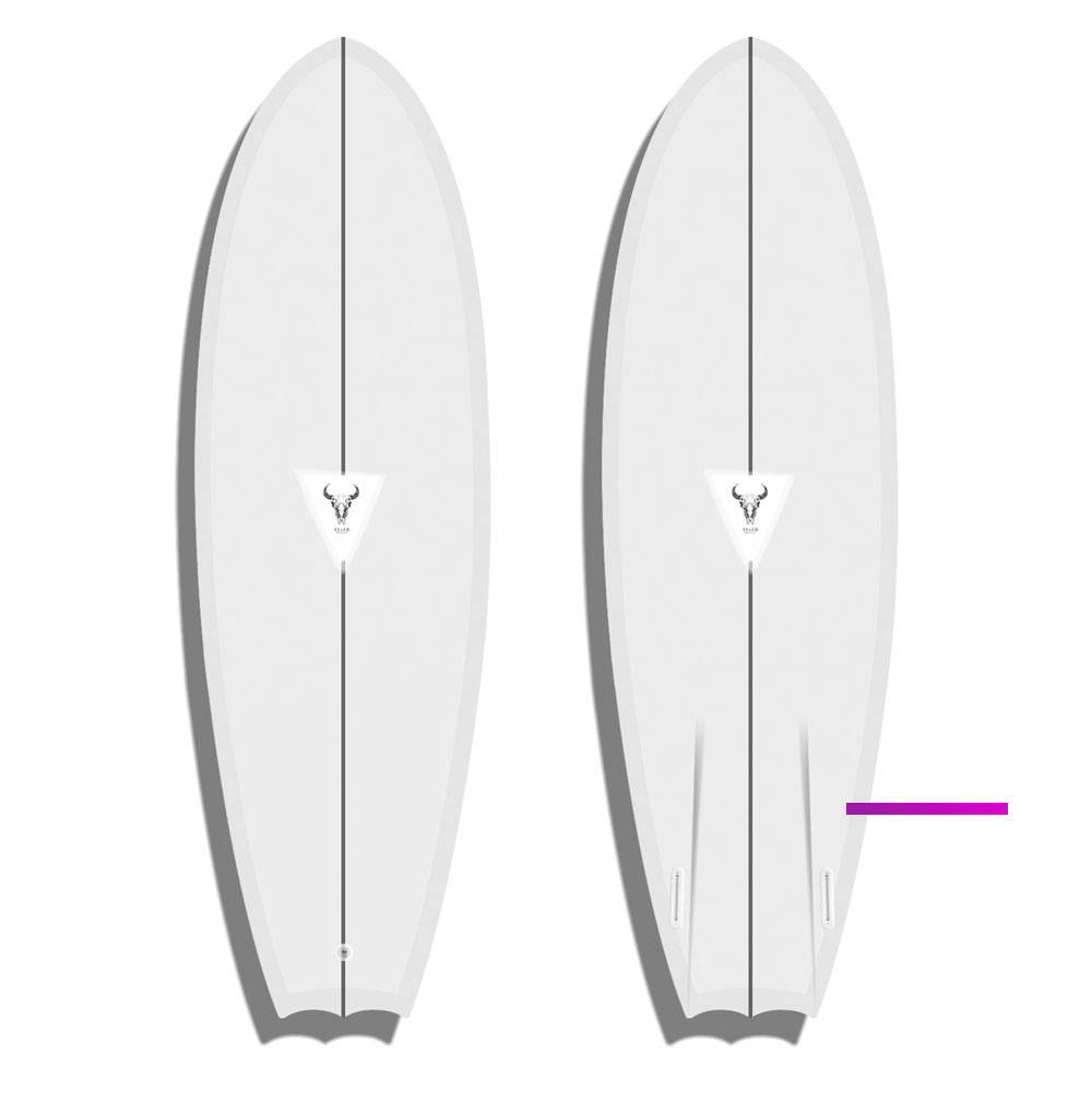 Twin Fin - Custom Surfboard
