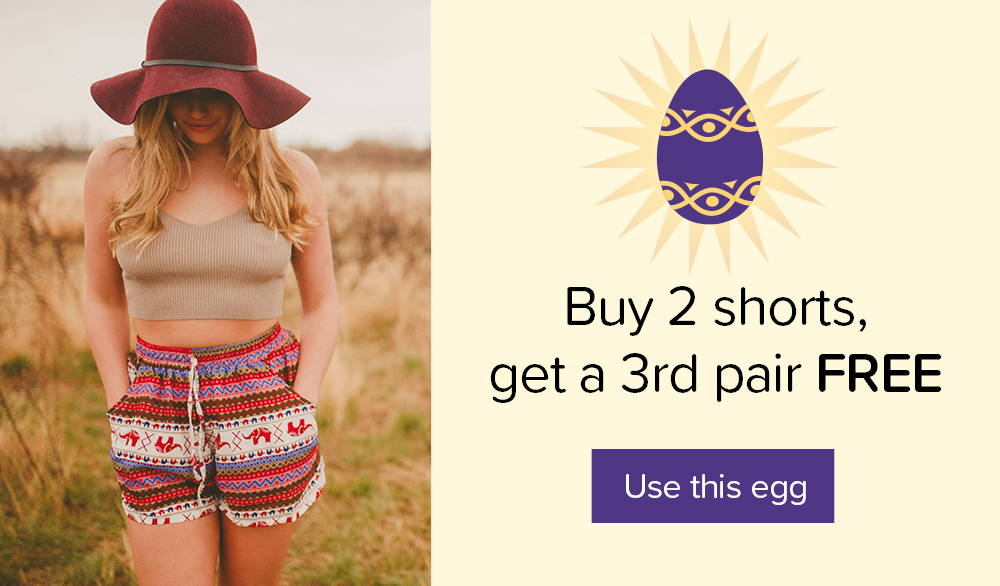 Buy 2 shorts, get 1 FREE - Click Here