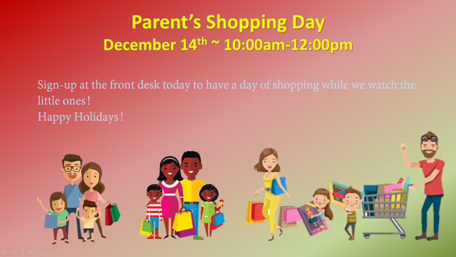 Parent Shopping Day