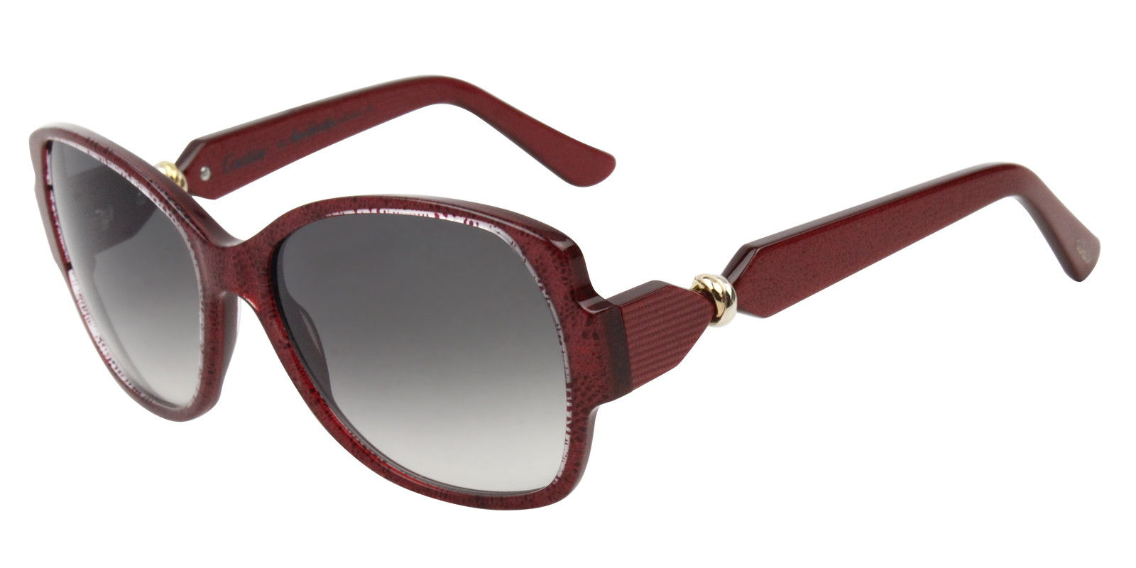 CARTIER WOMEN'S TRINITY T8200914 SUNGLASSES red (side)