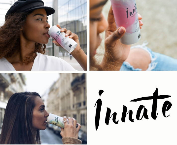 nnate organic infused water is pure alpine water infused with birch sap and superfruits. Each elegant can is beautifully designed, recyclable, and made with 50% recycled material.