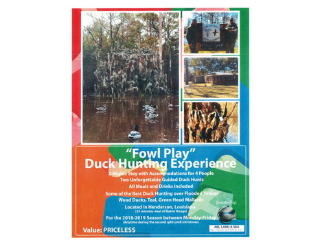 """""""Fowl Play"""" Duck Hunting Experience"""