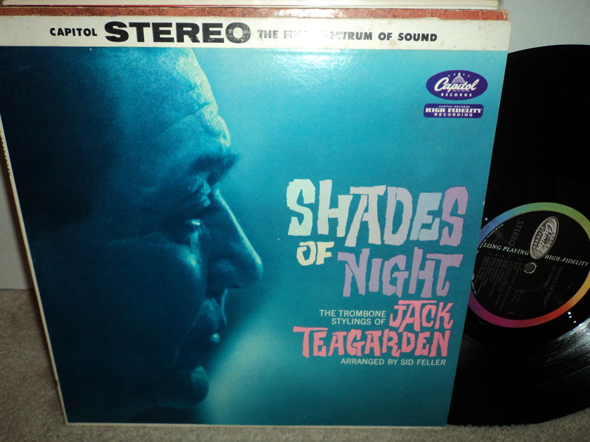 """Jack Teagarden  - """"Shades of Night""""  Capitol Colorband Long Playing NM"""