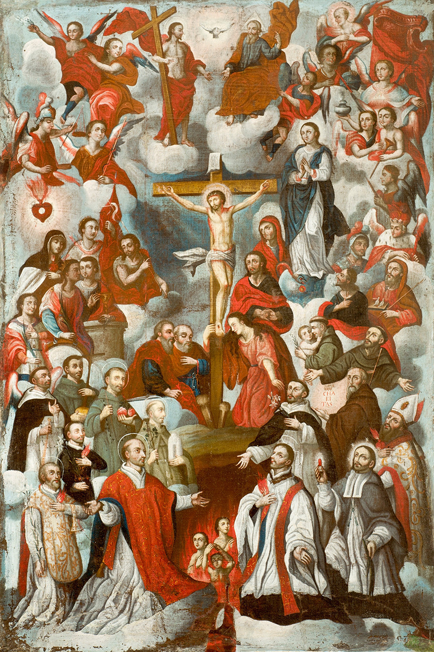 Christ Crucified with Adoring Saints