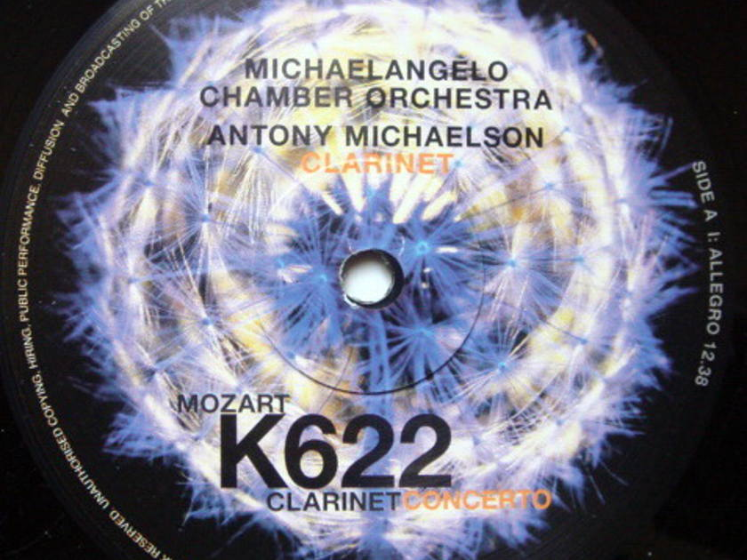 ★Audiophile 180g★ Musical Fidelity /  MICHAELSON, - Mozart Clarinet Concerto, MINT(OOP)!