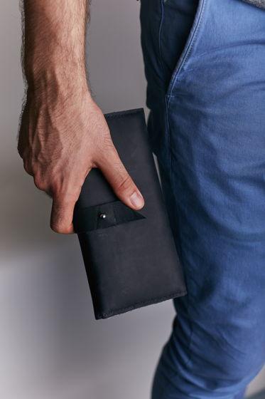 Кожаное портмоне -HILLSIDE- цвет Black Carbon