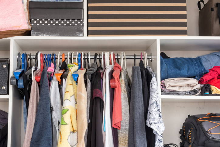 Clothes in Closet Can Absorb Smells
