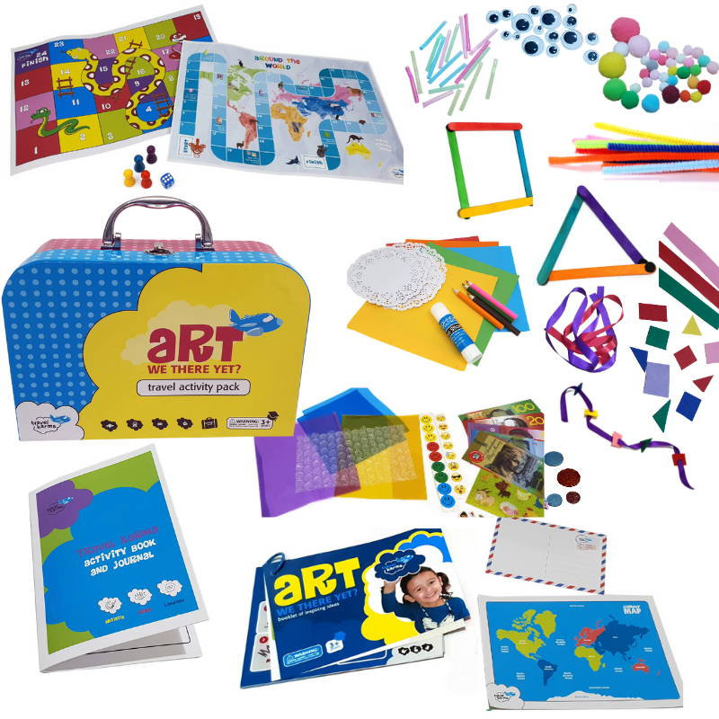 Jumbo Travel Activity Pack for kids lots of crafts, games, mazes and fun for kids