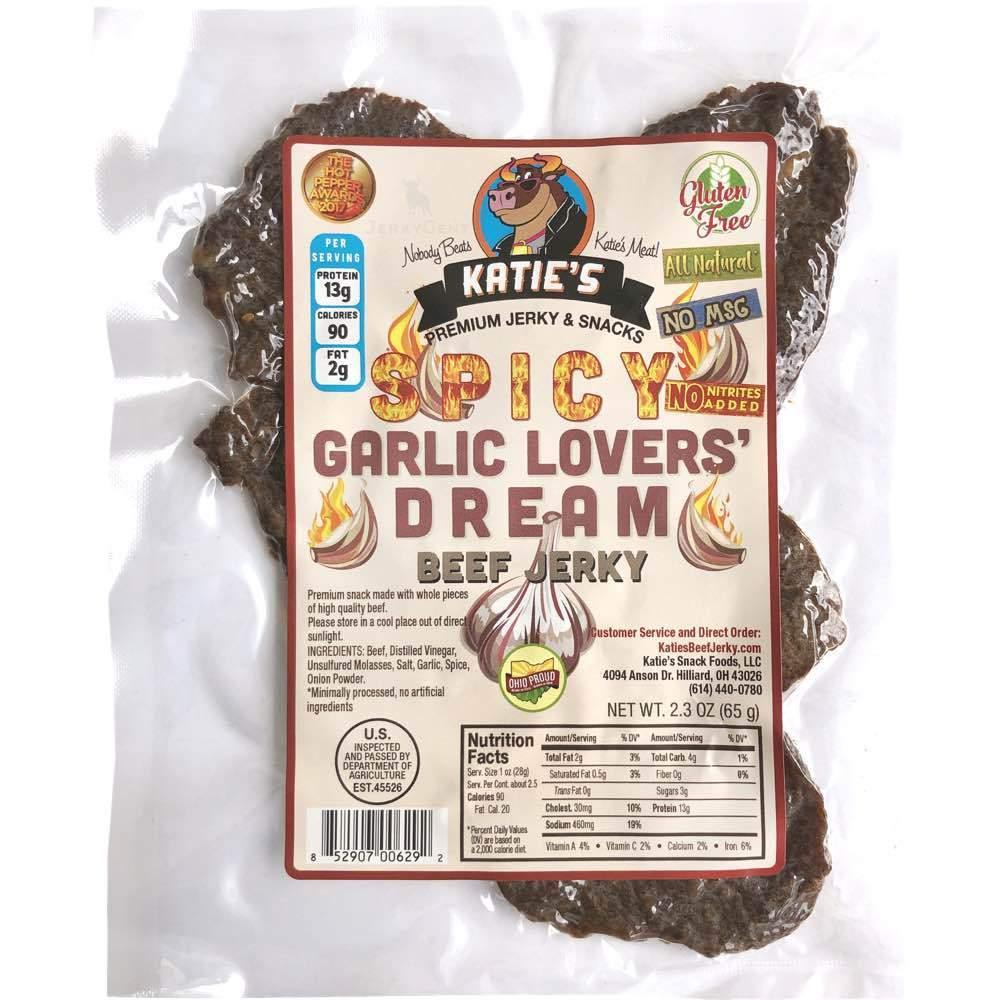 Katie's Spicy Garlic Lovers Dream Gluten-Free Beef Jerky