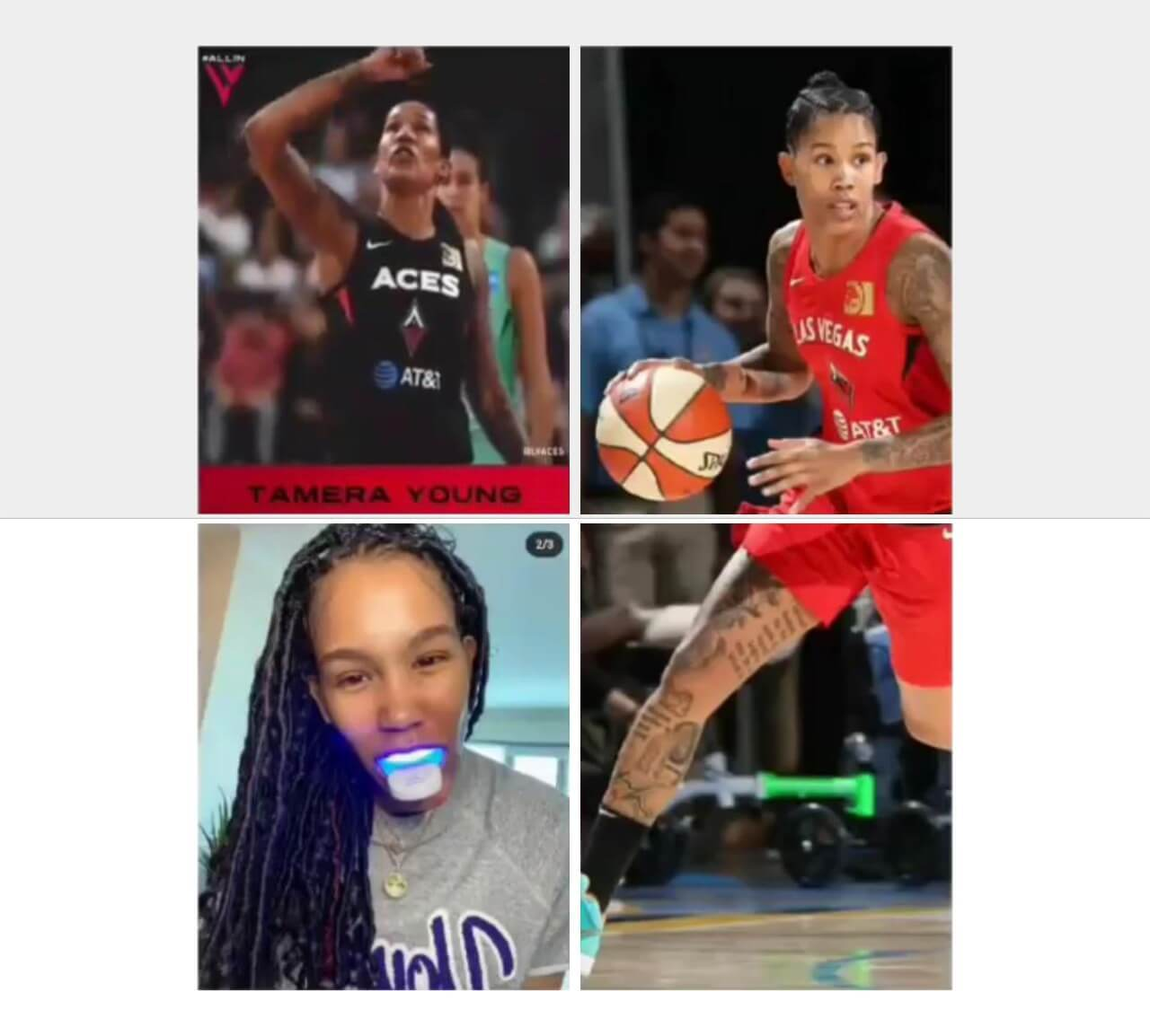 laserglow spa teeth whitening kit basketball player tamera young