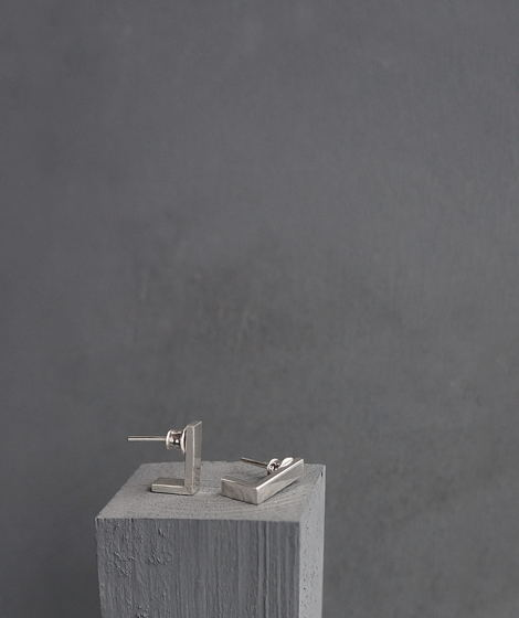 Серьги серебряные уголки