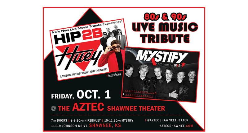 Hip 2B Huey (Huey Lewis tribute) with co-headliners MYSTIFY  (INXS) tribute