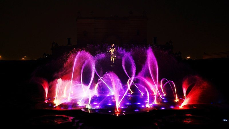 Akshardham water show, Delhi, India