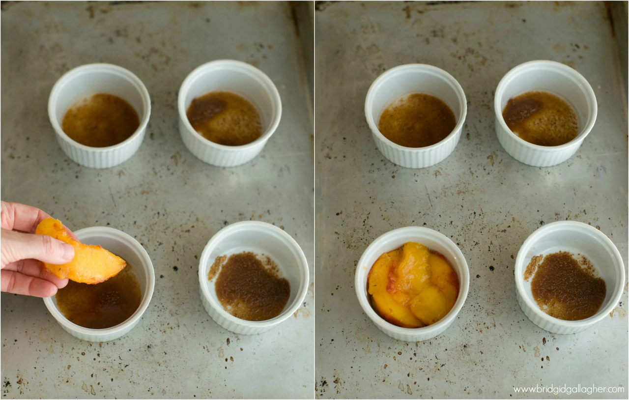 Peach Upside-down Cake Recipe // vegan, gluten-free // www.bridgidgallagher.com