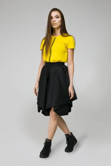 """Черная юбка на поясе """"ORIGAMI"""""""